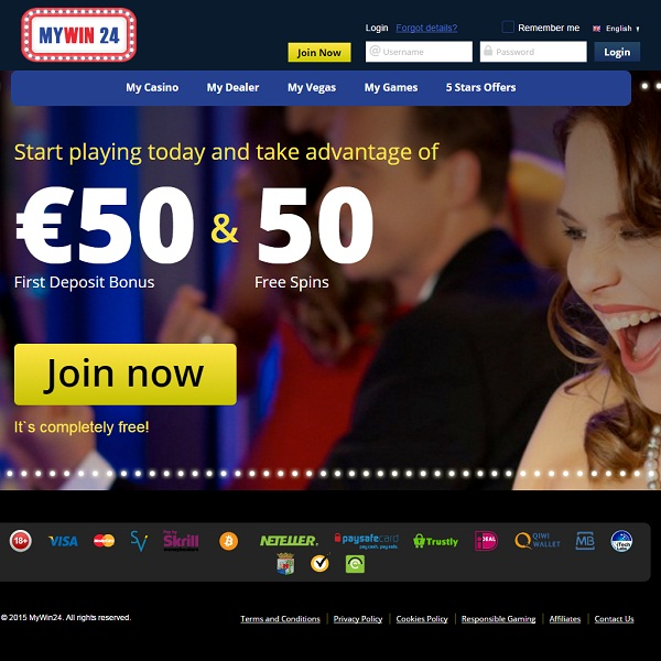 MyWin24 Casino Offers Round the Clock Winnings