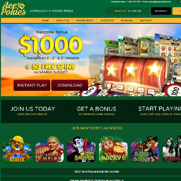 Ace Pokies Casino Brings Aussies the Top Games