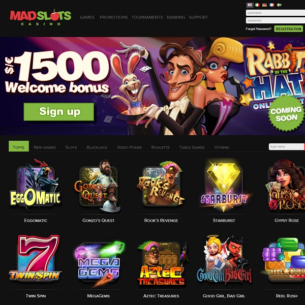 Mad Slots Casino Offers Players a Huge Slots Selection