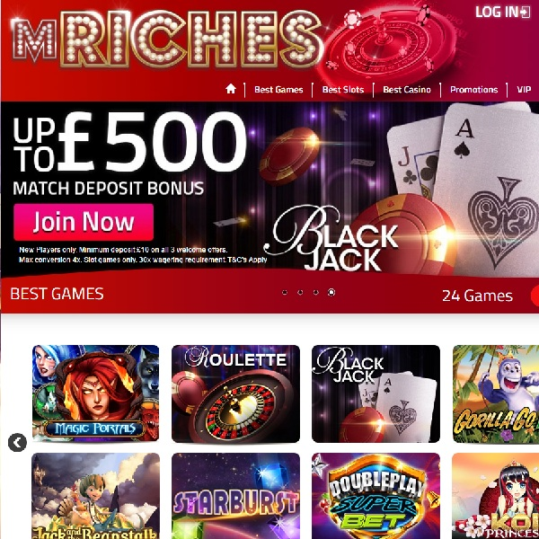 mRiches Casino Offers Huge Winning Opportunities