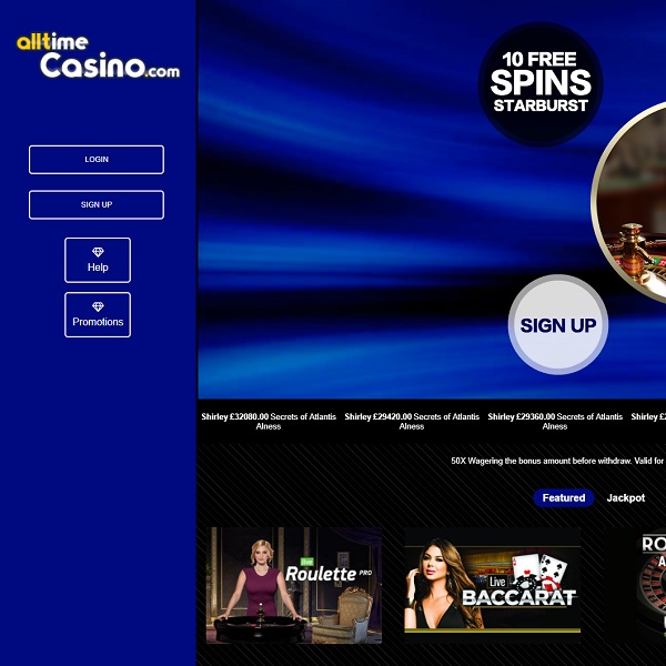 Play Around the Clock at the New All Time Casino