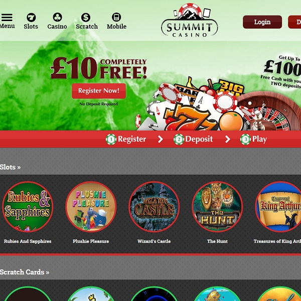 Summit Casino Offers Promotions and Games on the Go