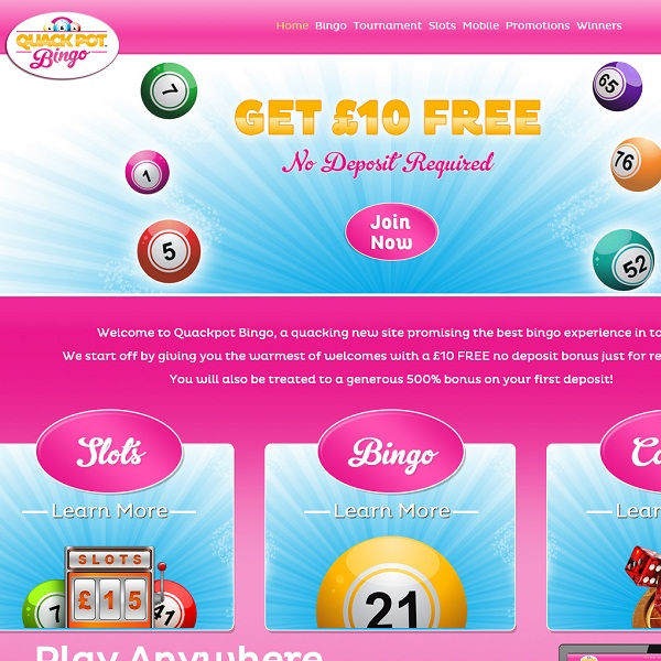 Quackpot Bingo Offers Crazy Online Bingo Rooms