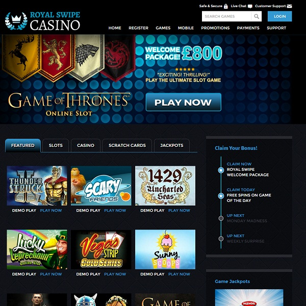 Royal Swipe Casino Offers a Massive Choice of Games
