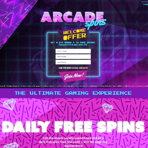 Arcade Spins Casino Offers the Latest in Retro Style