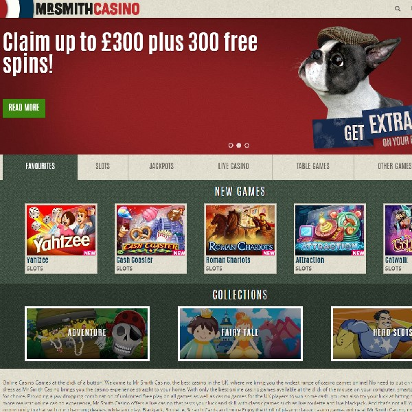 Mr Smith Casino Offers Free Progressive Jackpot Spins