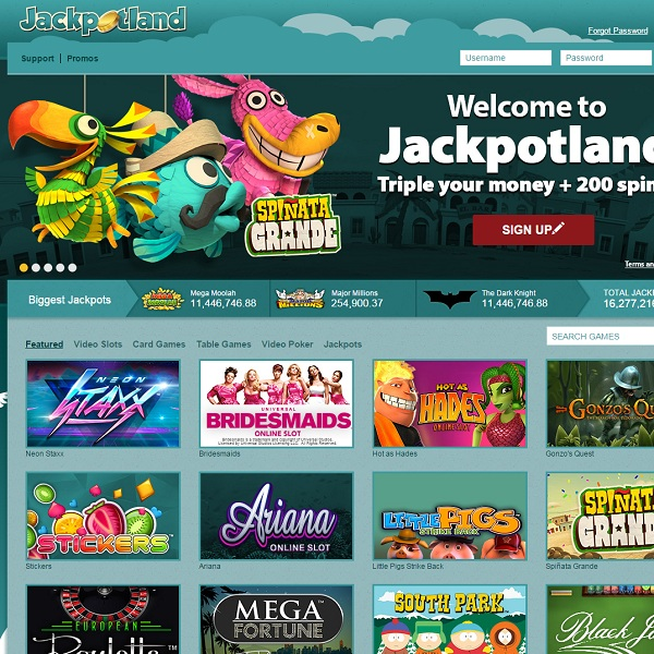 Jackpotland Casino Features Multiple Progressive Jackpots