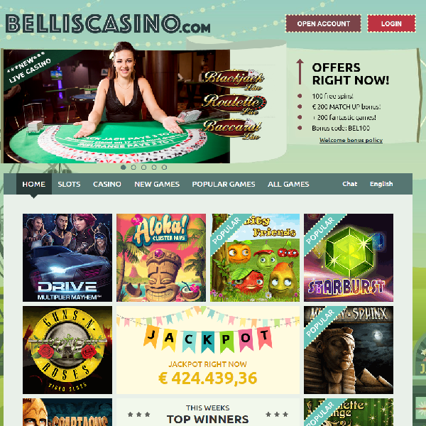 Bellis Casino Launches With Multiple Bonuses