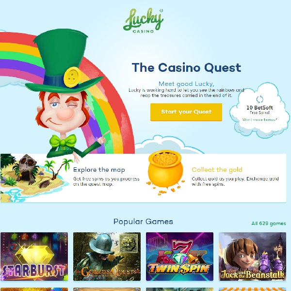 Lucky Casino Offers 629 Top Casino Games