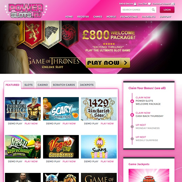Power Slots Casino Offers a Huge Number of Slots
