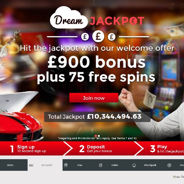 Dream Jackpot Casino Helps You Strike it Rich