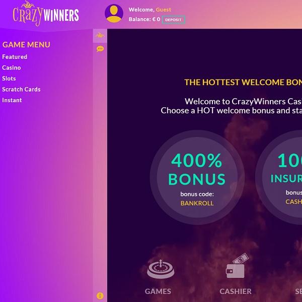 Crazy Winners Casino Offers Casino Winnings Galore