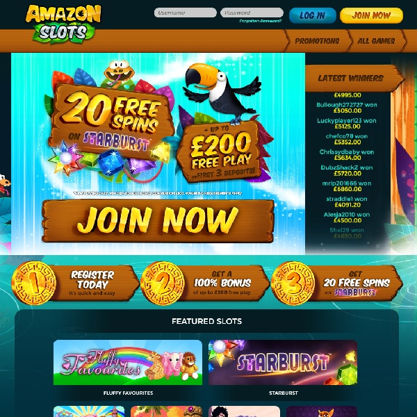 Amazon Slots Casino Takes You Gaming in the Jungle