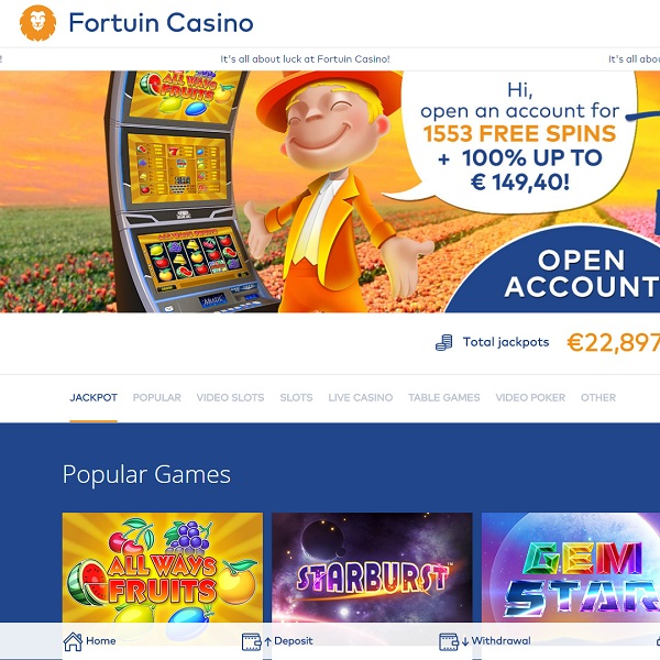 Fortuin Casino Welcomes You With Loads of Free Spins