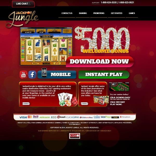 Jackpot Jungle Casino Offers Massive Slots Jackpots