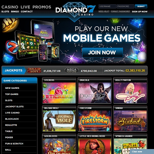 Diamond 7 Casino Provides Bejewelled Online Gambling