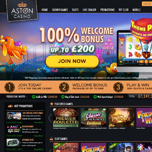 Aston Casino Offers All the Games You Could Possibly Need