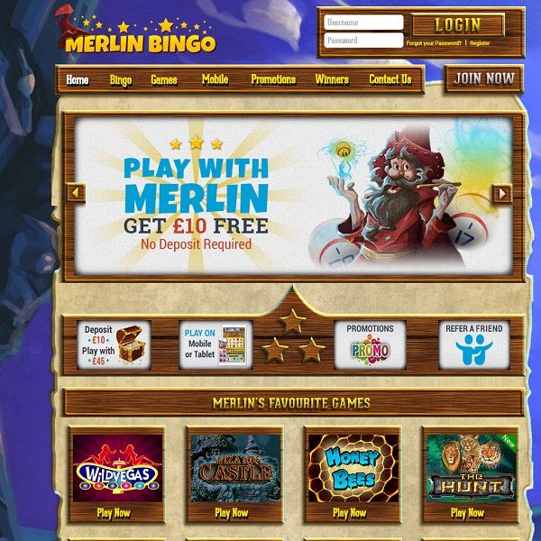 Merlin Bingo Offers Players a Magical Experience