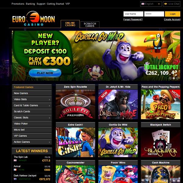 Euromoon Casino Review – Stylish European Gambling