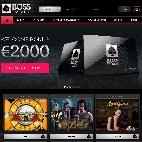 Boss Casino Offers Top Quality Gambling Entertainment