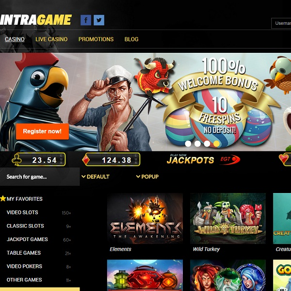 IntraGame Casino Offers High Quality Gaming to Europeans