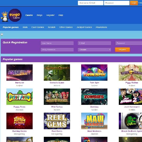 Pingo Casino Offers Casino and Bingo Fun