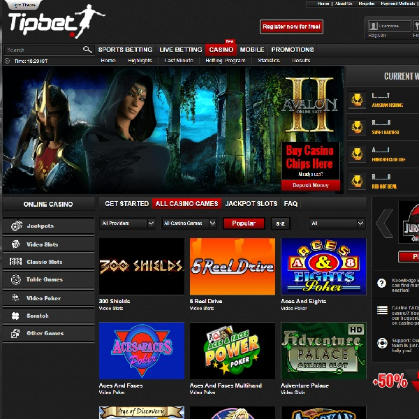 Tipbet Casino Features Top Microgaming Games