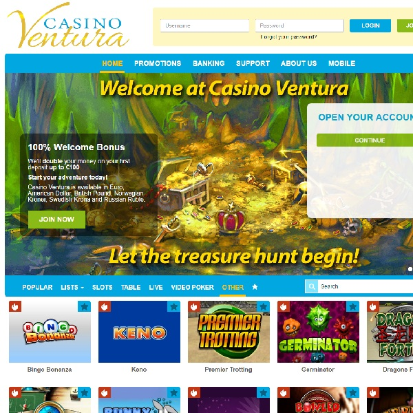 Casino Ventura Brings a Touch of Class to Online Gambling