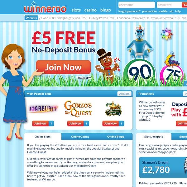 Winneroo Casino Offers Fantastic Welcome Bonuses