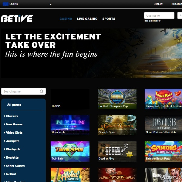 Betive Casino Offers Fun Gambling for All