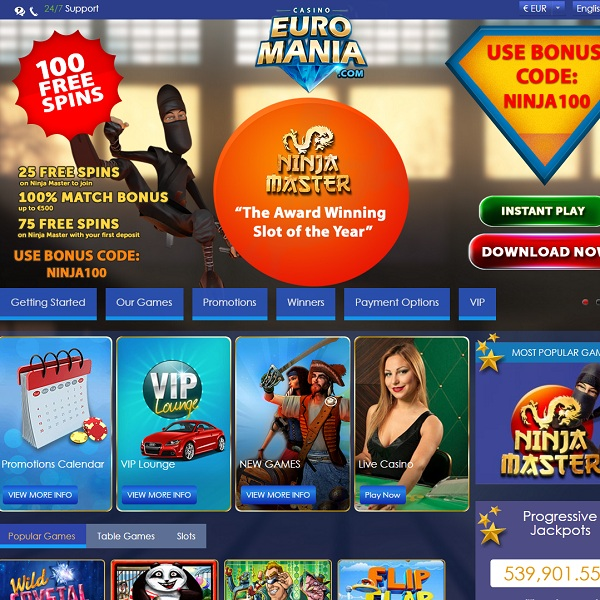 EuroMania Casino Brings Excitement to the Continent
