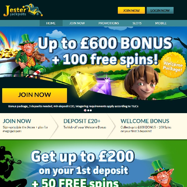 Jester Jackpots Casino Offers Multiple Progressive Games