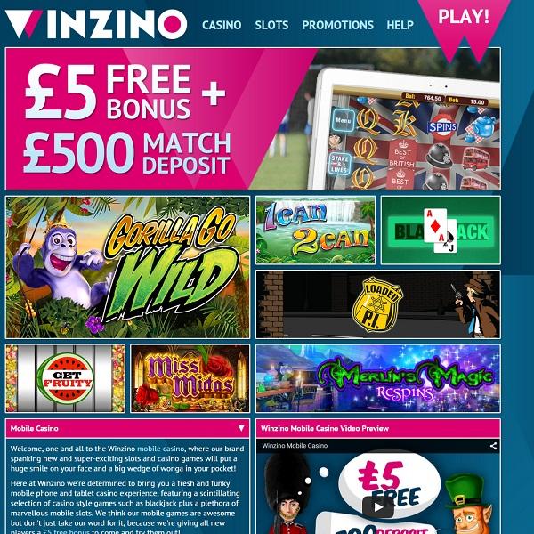 Winzino Casino Review – Fantastic Winning Opportunities