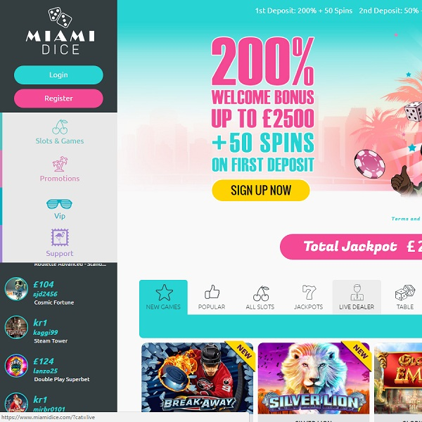 Miami Dice Casino Presents a Cool Gambling Experience