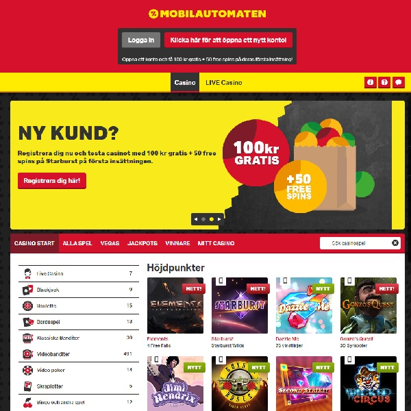 Mobilautomaten Casino Brings Mobile Gambling to Scandinavia