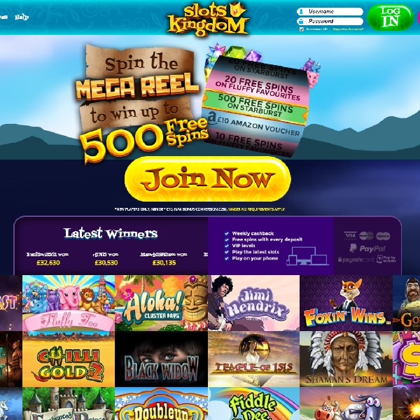 Slots Kingdom Casino Brings Hundreds of Titles