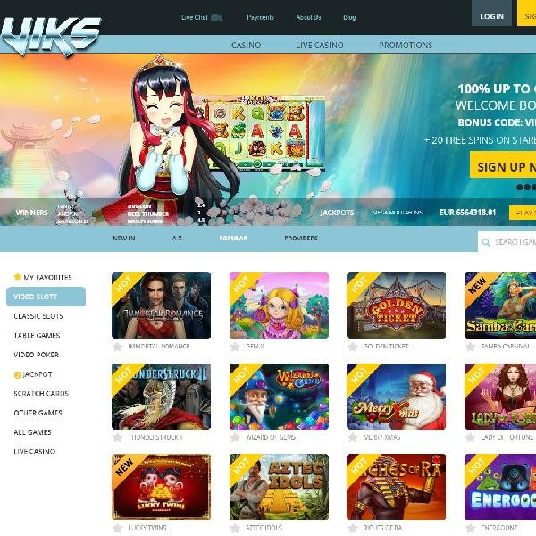 VIKS Casino Brings Action Packed Gambling