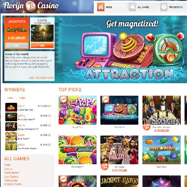 Florijn Casino Launches With Games from Six Developers