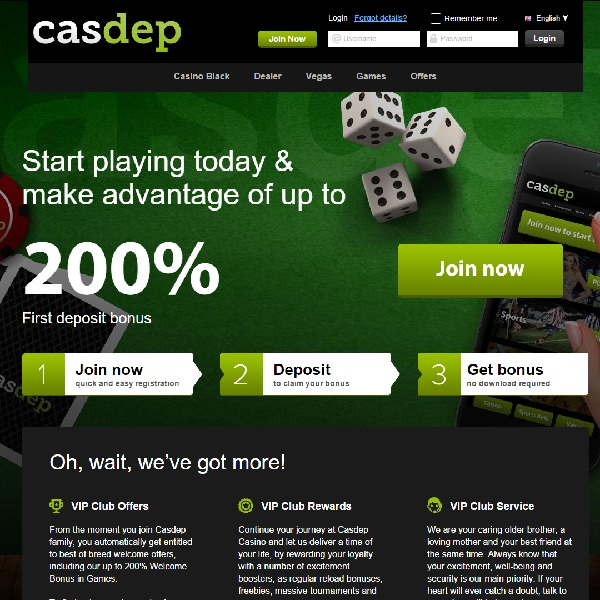 Casdep Casino Offers The Best Casino Games