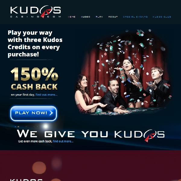 Kudos Casino Offers Unique Casino Bonuses