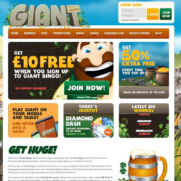 Giant Bingo Provides Huge Online Bingo