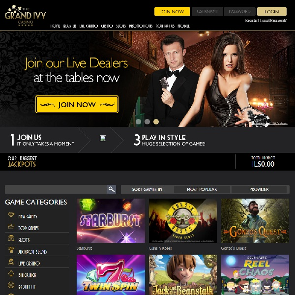 The Grand Ivy Brings Style to Online Gambling