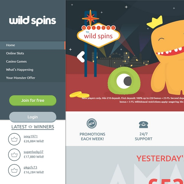 Wild Spins Casino Brings The Best Mobile Slots