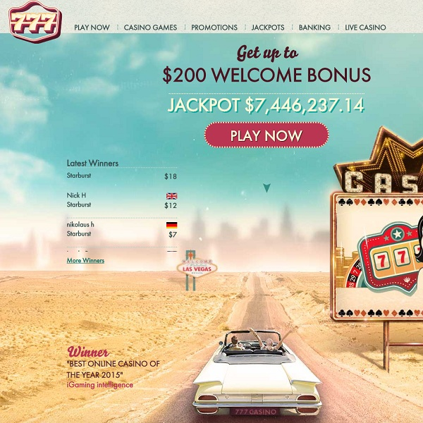 777 Casino Offers Retro Style Class and Sophistication