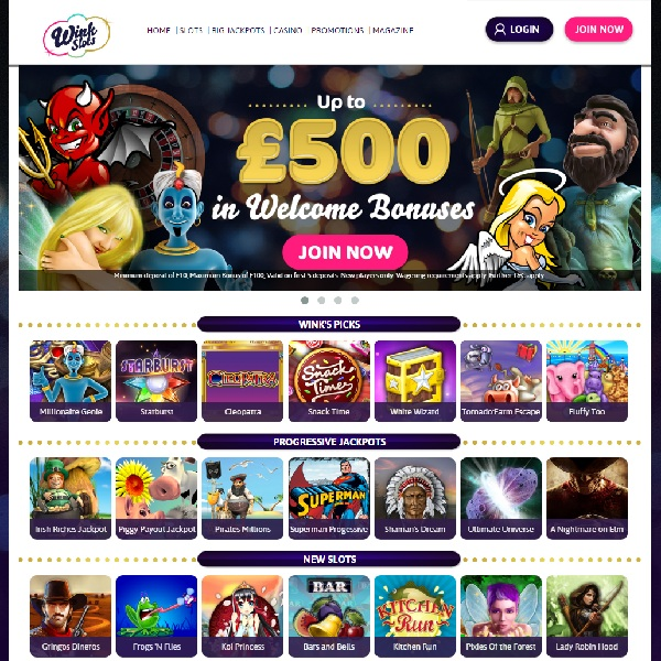 Wink Slots Casino Offers a Huge Slot Collection