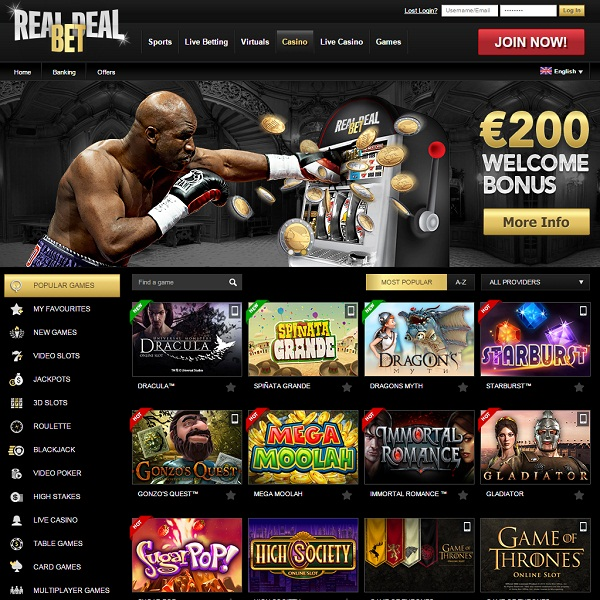 Real Deal Bet Casino Provides a Smashing Gambling Experience