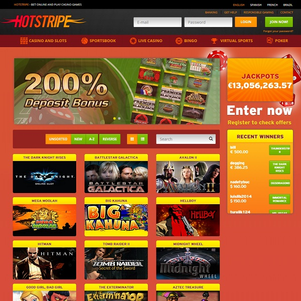 Hotstripe Casino Offers Masses of Online Games