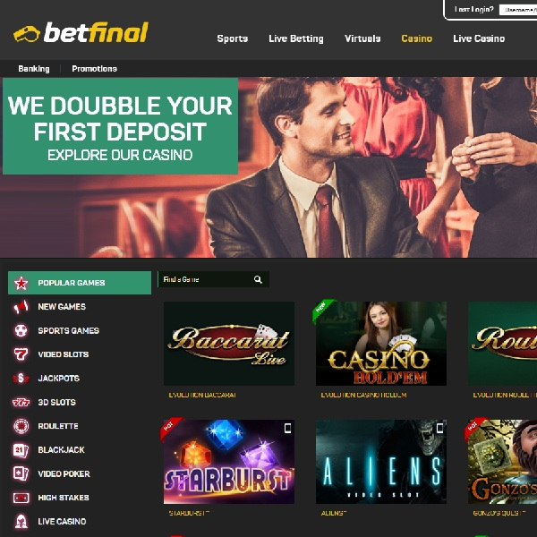 Betfinal Casino Combines Sports Betting with Casino Gaming
