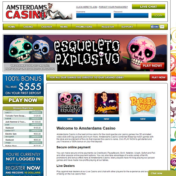 Amsterdams Casino Offers Exciting Casino Games