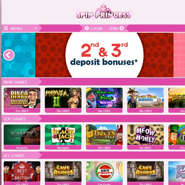 Spin Princess Casino Provides Slots fit for Royalty